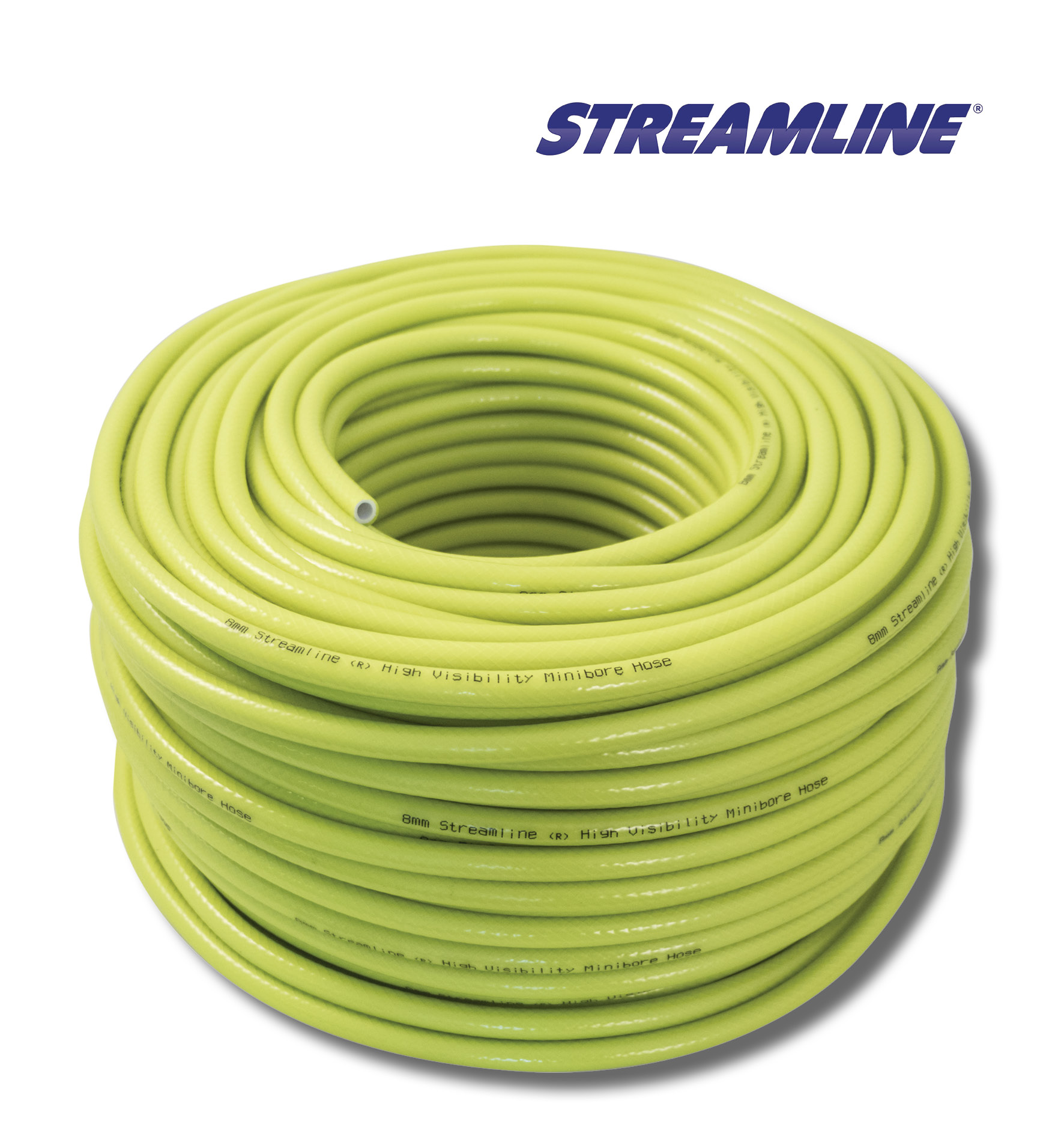 Steamline 8mm Minibore Hot & Cold Water Hi Viz Hose 100 Metres