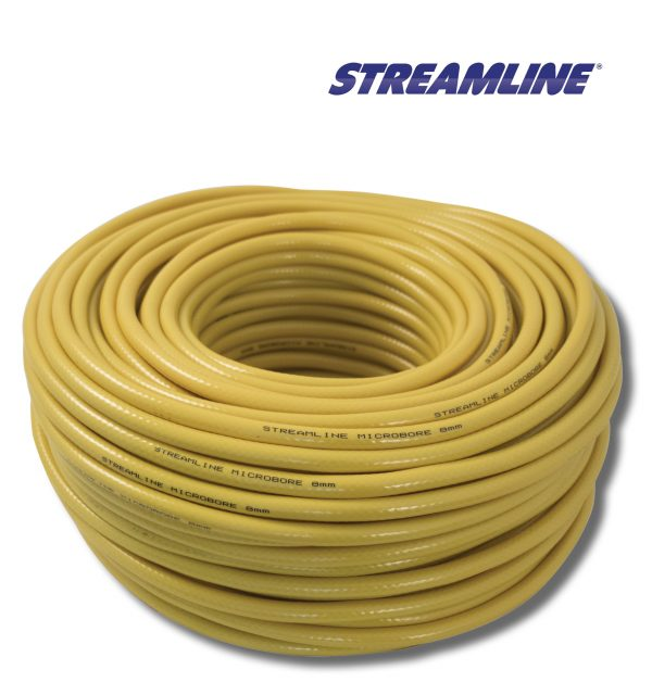 Streamline 8mm Minibore Hose Yellow 50 Metres