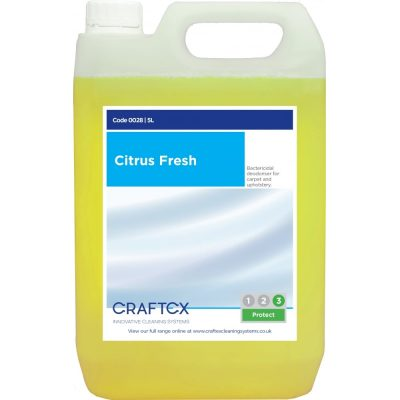 Craftex CR28 Citrus Fresh Carpet and Upholstery Deodoriser 5