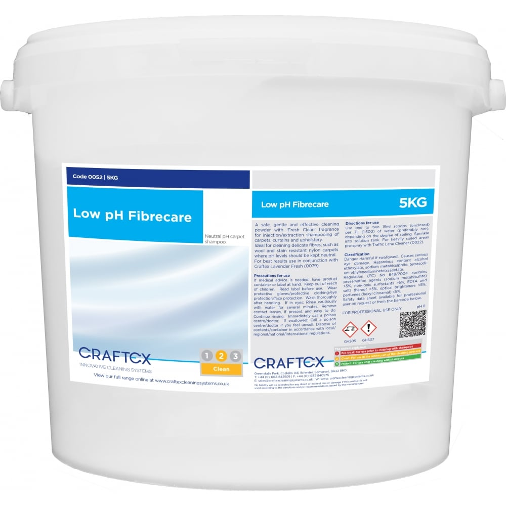 Craftex CR52 Low pH Fibrecare Powder 5KG