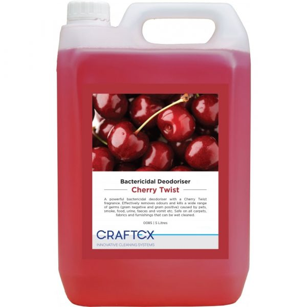 Craftex CR85 Cherry Twist Bactericidal Carpet and Upholstery Deodoriser 5 Litres