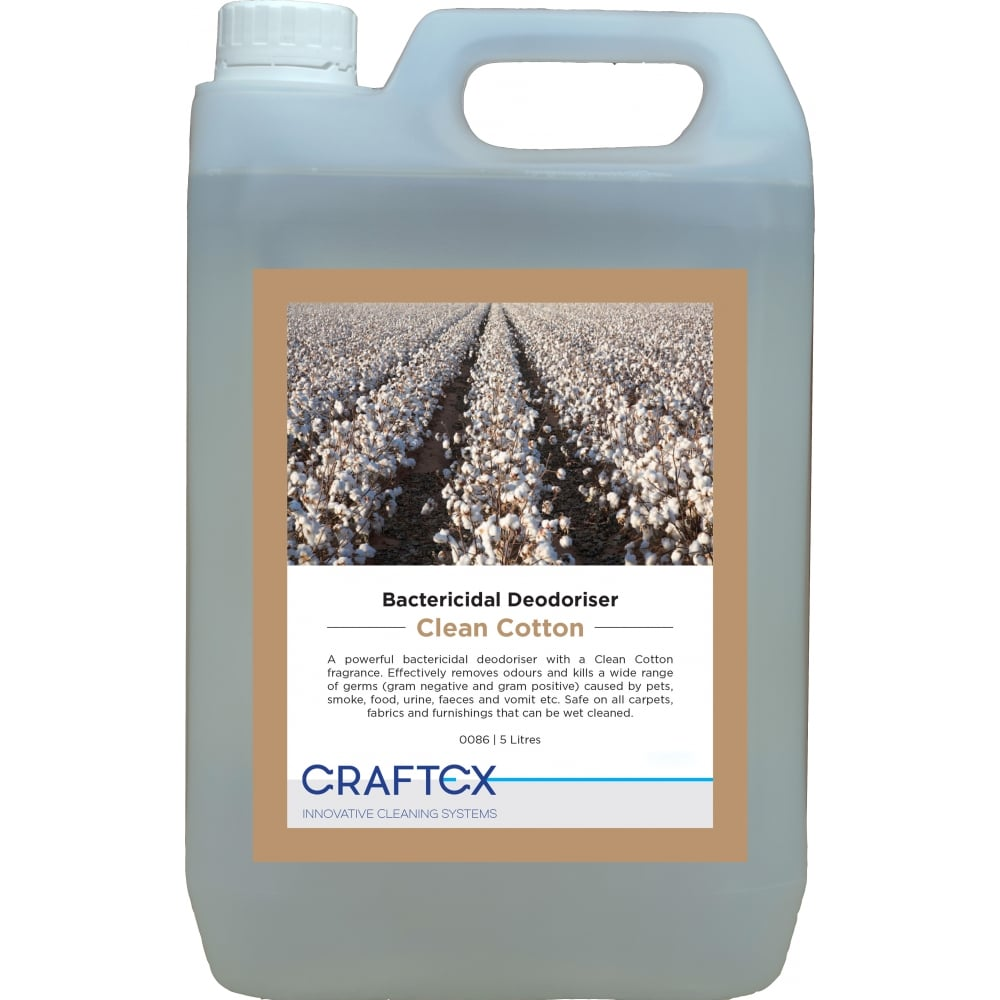 Craftex CR86 Clean Cotton Bactericidal Carpet and Upholstery Deodoriser 5 Litres