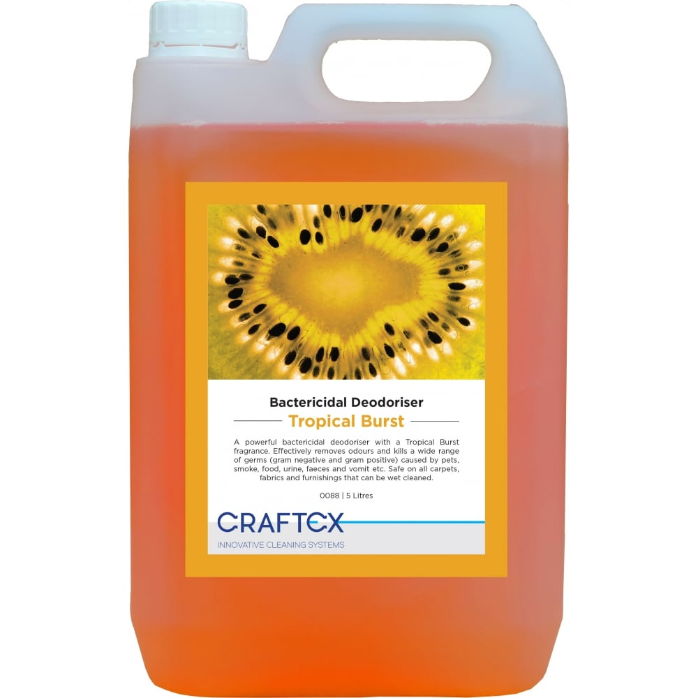Craftex CR88 Tropical Burst Bactericidal Carpet and Upholstery Deodoriser 5 Litres