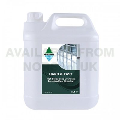 Norsan Hard and Fast High Solids Long Life Gloss Emulsion Floor Dressing 5 Litres