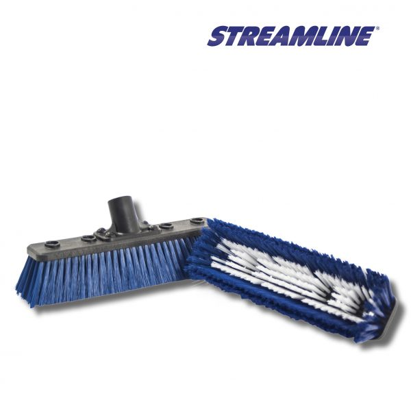 Streamline Flat Medium Double Trim Brush – 10″ (254 mm) with Pencil Jets