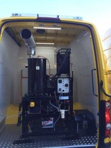 Dirt Driver Van Mounted Diesel Powered Hot Water Pressure Washers
