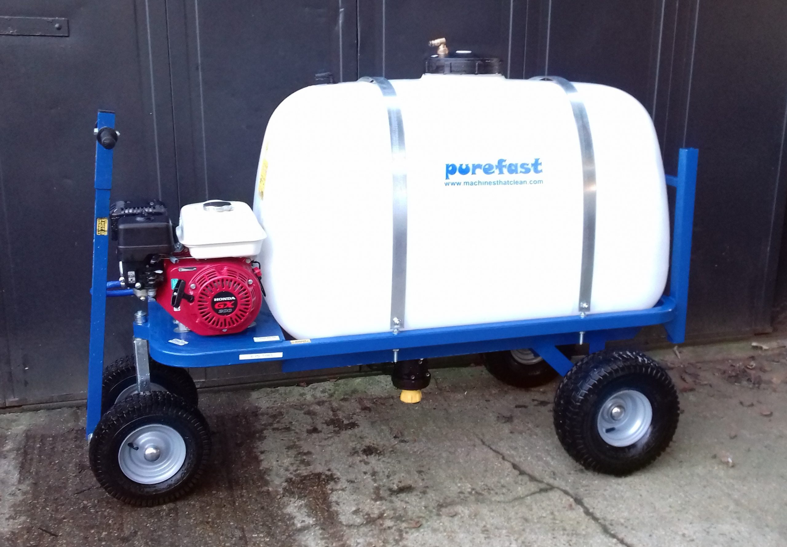 400 litre 4 wheel water bowser pressure washer